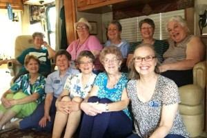 Ladies enjoying a get-together with some staff and other volunteers.