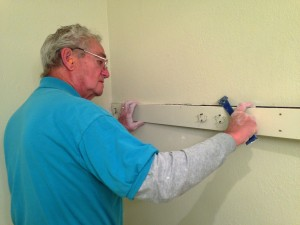 Don removed the surface mounted towel bars in all the rooms and recessed them into the sheet-rock.