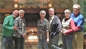 Three couples served here for the month of January. Bruce and Judy Wolf, Rich and Barb Oliveria and Don and Jenny Rasmussen. Pictured here in one of the lovely meeting rooms.